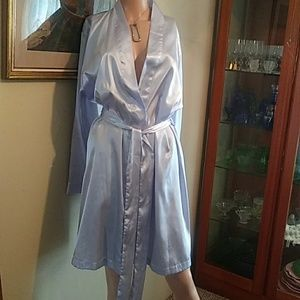 Adonna Silky Pale Lavender Robe